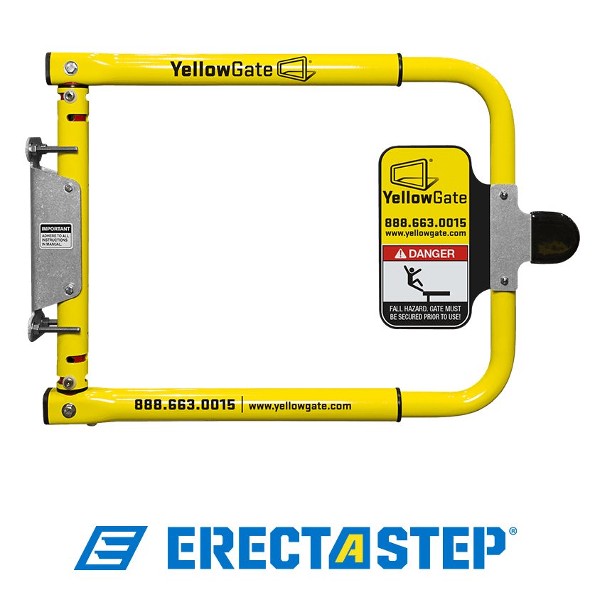 YellowGate Industrial Swing Gate for openings ranging from 16inches to 36 inches