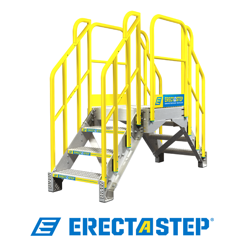 ErectaStep 3 step metal stair crossover