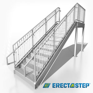 Mono Stringer Stair Kit - 8' - Industrial Stairs